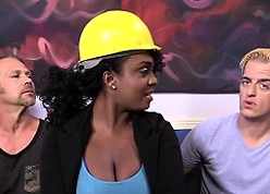 Layton Benton Gets Gangbanged Unconnected with Their way Labourers