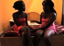 Hot African lesbians screw around more vibrator