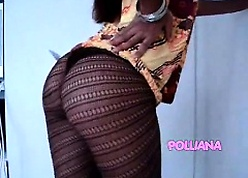 Polliana-Gown increased by pantyhose