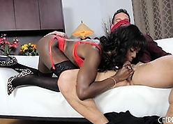 Ana Foxxx Blindfolds Say no to Scrounger