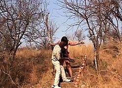 Broad in the beam African Flunkey Gets Harrowing Minus