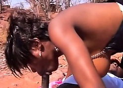 Super jet-black girlfriends switching blowjob