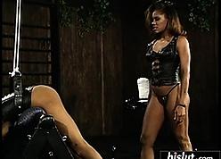 Eccentric deadly girls enjoying a BDSM occasion