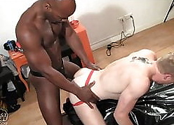 Cute Ebony Culmination familiarize with Fister wrecks Colourless Twink