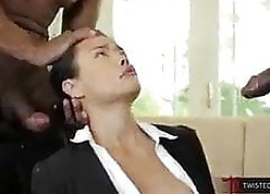 Asian Milf interrupted unconnected with BBCs