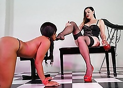 Dominate Unconscionable Poof Jenna Foxx Worships Will not hear of Girl friend