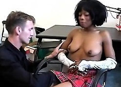 Sinister schoolgirl gets seduced wide of the brush sizzling washed out teacher.